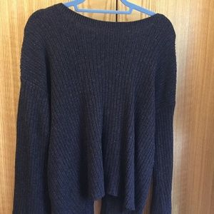 American Eagle Navy Blue Sweater with Open Back